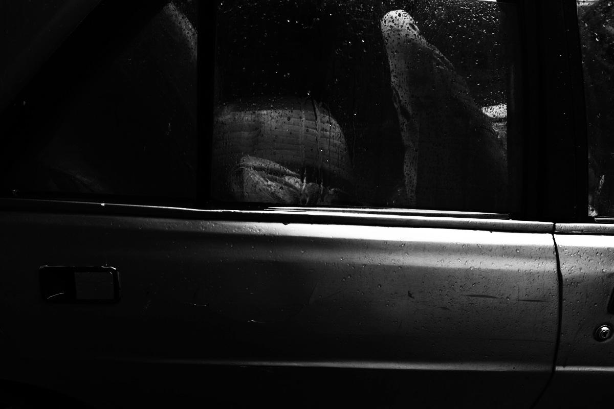 Finestrino macchina pioggia