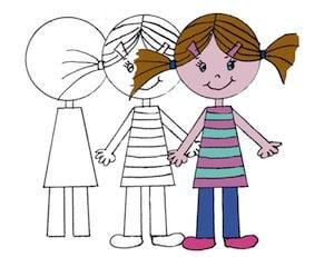 Come Disegnare Una Bambina Cose Per Crescere
