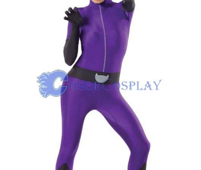 Sexy Purple Cat Suit Zentai Party Cosplay