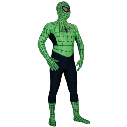 Green Spiderman Halloween Costume