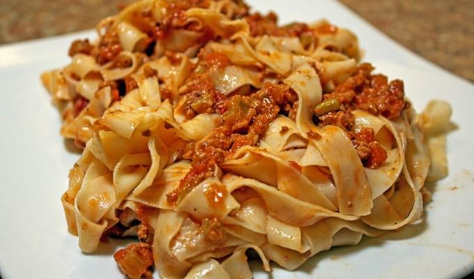 Tagliatelle con Ragù alla Bolognese – Tagliatelle Bolognese, It's not what you might think