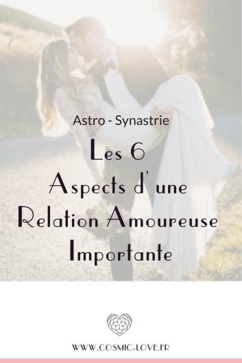 Synastrie 6 éléments d'une relation imporantes