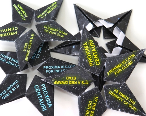 DIY origami star home page