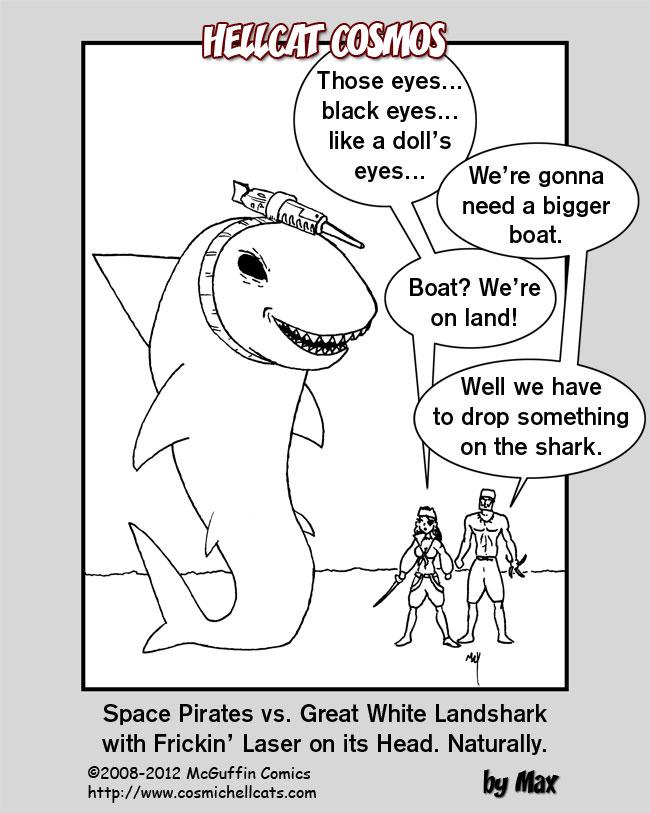 Space Pirates vs. Landshark
