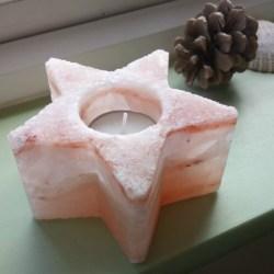 Himalayan salt tea light holder