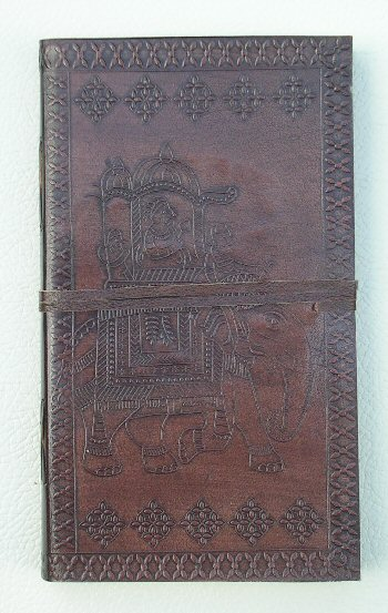 Leather Embossed Notebooks with Elephant Design