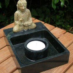 Marble Buddha Candle Holder