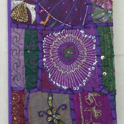 Embroidered Notebooks Purple
