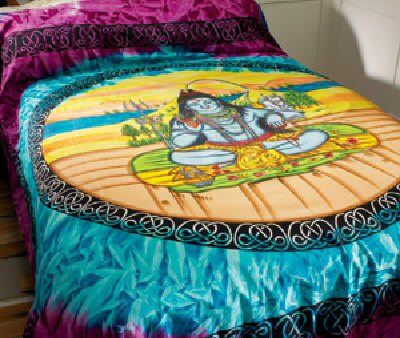 Celtic Design Bedspreads with Shiva Print