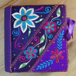 Purple Embroidered Keepsake Box