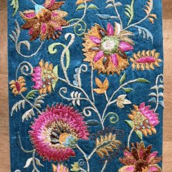 Embroidered Blue Notebook