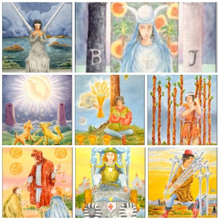 moon cards in the tarot