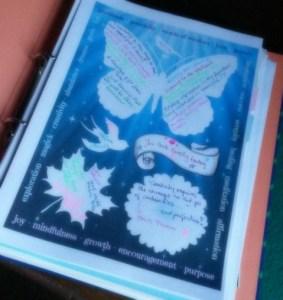 diary journaling sheet