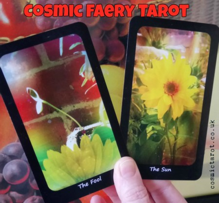 cosmic faery tarot fool and sun