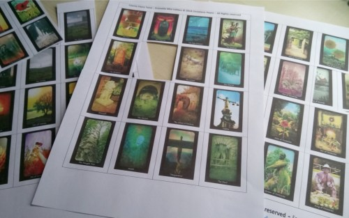 cosmic faery tarot printable mini edition