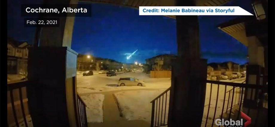 Bolid oświetlił północne niebo Alberty w poniedziałek rano