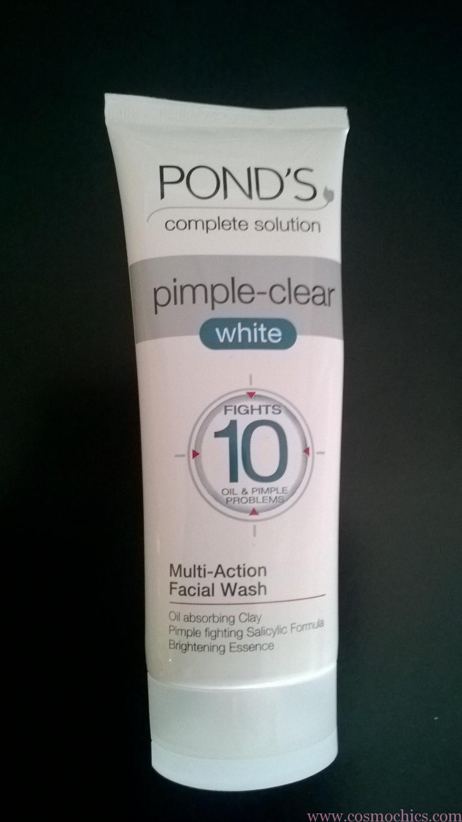 Ponds Pimple Clear White Face Wash For Acne Prone Skin Swatches Https Www Cosmochics Com