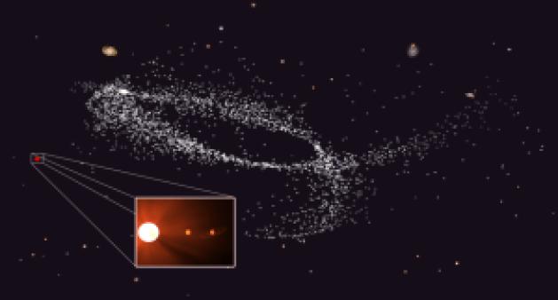 Eyección de Kapteyn de una galaxia enana