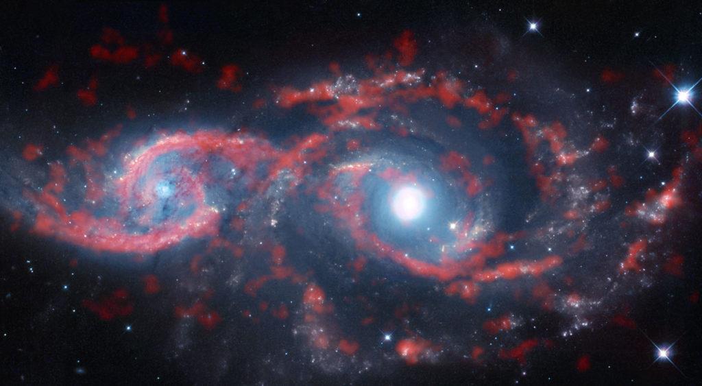 Galaxias IC 2163 y NGC 2207