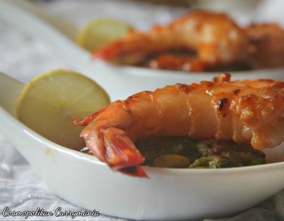 Cosmopolitan Currymania Miso Butter prawns with Japanese Pea-corn fritters 007.jpg