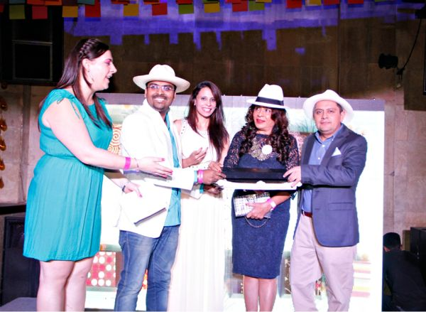 Left to right: Trade Officer Priscila Moscoso Meiller, Varun Inamdar, Rashmi Uday Singh and Consul General Hector Cueva Jacome