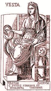 gravure représentant Vesta