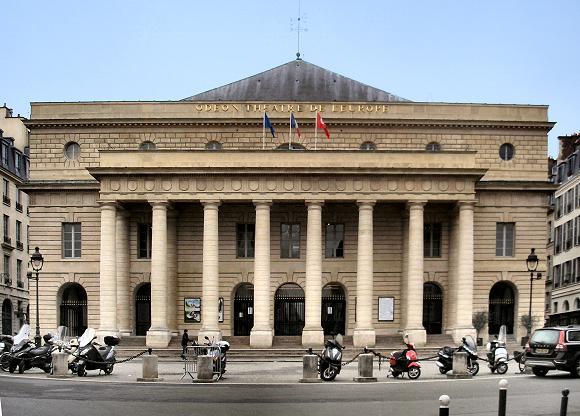 Le Théâtre de l'Odéon, à Paris.