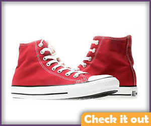 Red High Top Converse.