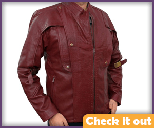 Star-Lord Red leather jacket.