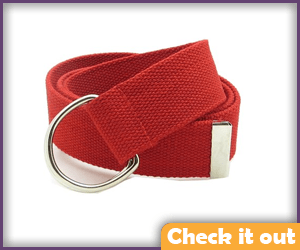 Red Canvas Strap.