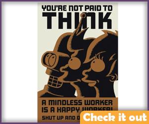 Bender Mindless Worker Poster.