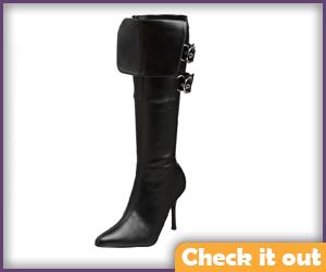 High Heeled Black Boots.