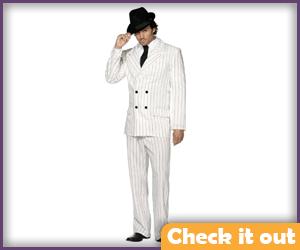 White Pin-Stripe Suit.
