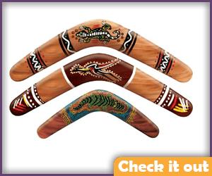 Decorative Australian Look Boomerangs.
