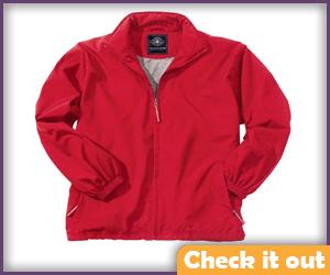 Red Wind Breaker Jacket.