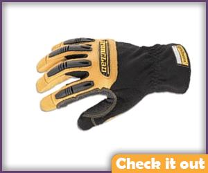 Black with Beige Knuckle Gloves.