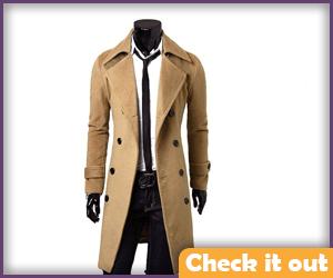 Beige Trench Coat.