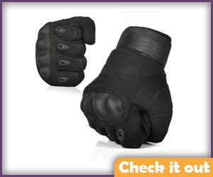 Black Tactical Gloves.