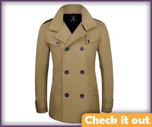 Second beige trench coat.