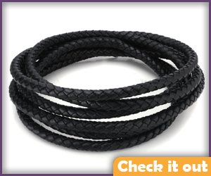 Leather Braided Cord.