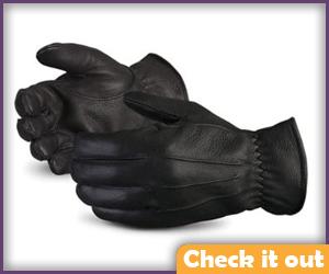 Black Leather Gloves.