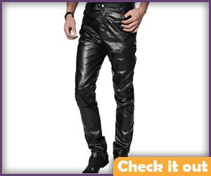Black Faux Leather Pants.