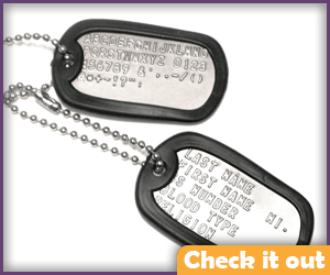 Military Dog Tags.