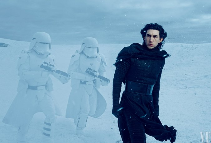 Kylo Ren Movie Still Reference Image.