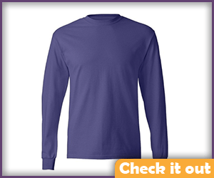 Purple Long Sleeve Plane Shirt.
