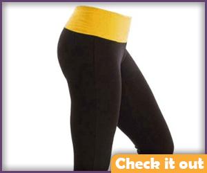 Black and yellow yoga pants.