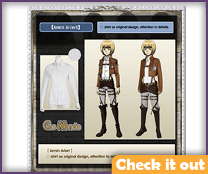 Armin Arlert Costume Deluxe Set.