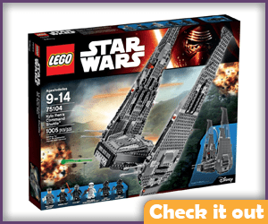 Kylo Ren Shuttle Lego Set.