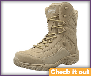 Light Brown Tactical Boots.