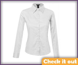 White Collared Shirt.